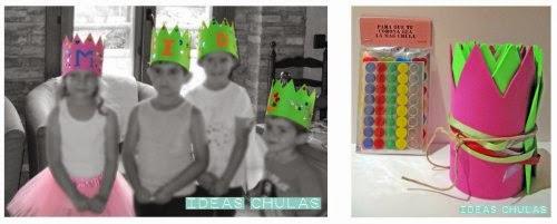 Coronas de goma-eva para personalizar