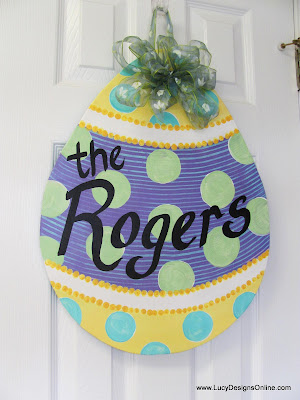 egg shaped door hanger Easter