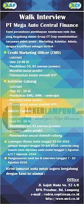 Loker Lampung Terbaru di PT. Mega Solusi Finance Juli 2016