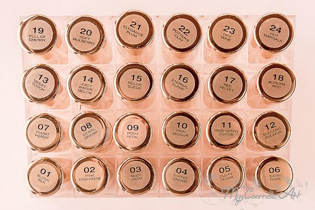 Los 24 pintalabios Royal Mat Lipstick de Pierre René.