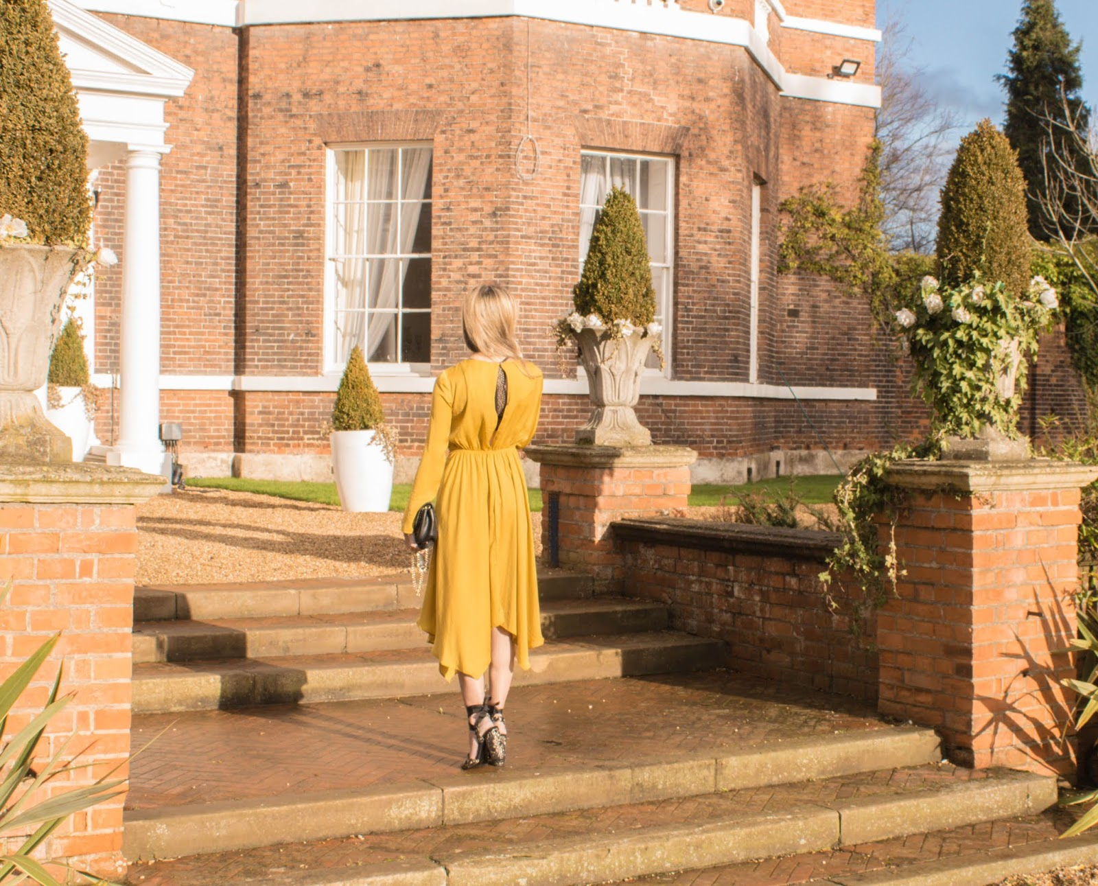 River Island Yellow Midi Dress