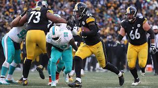 FÚTBOL AMERICANO (NFL Playoffs 2017) - Wild Card: Miami no fue rival para los Steelers permitiendo una exhibición de Le'Veon Bell