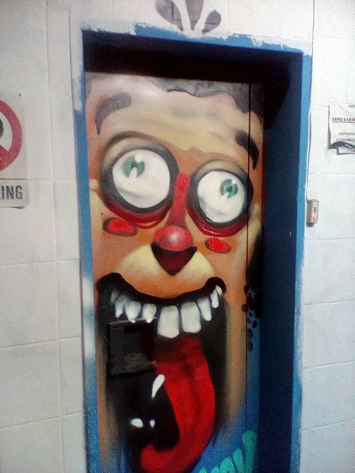 Funny grafity in exarcheia athens greece