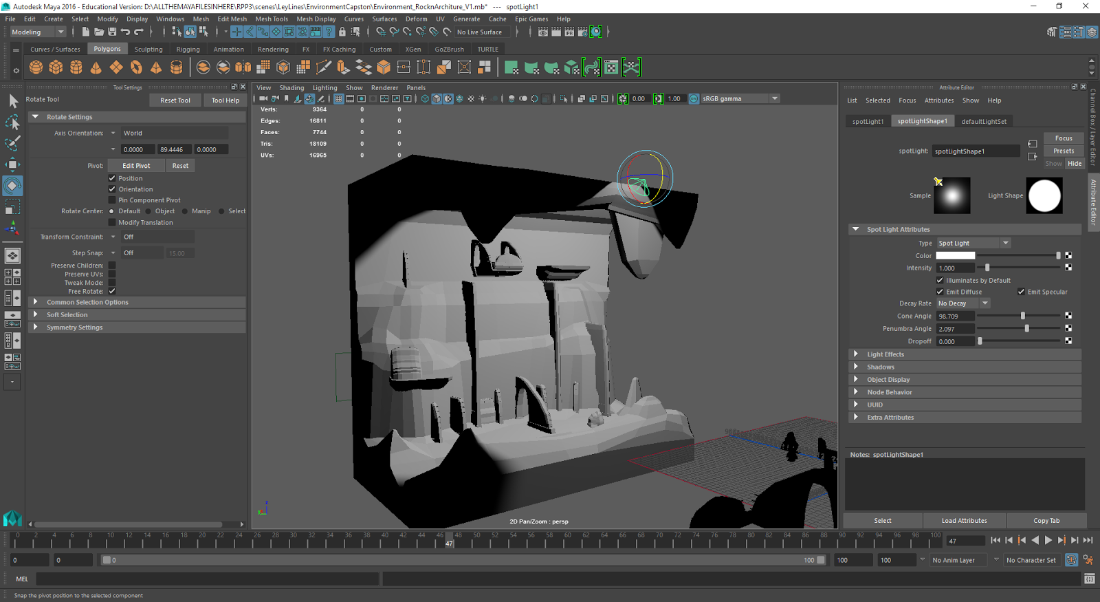 Maya Environment Designs (Class: 2D/3D II) - Florida