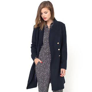 La Redoute Mademoiselle R Double Breasted Wool Mix Coat