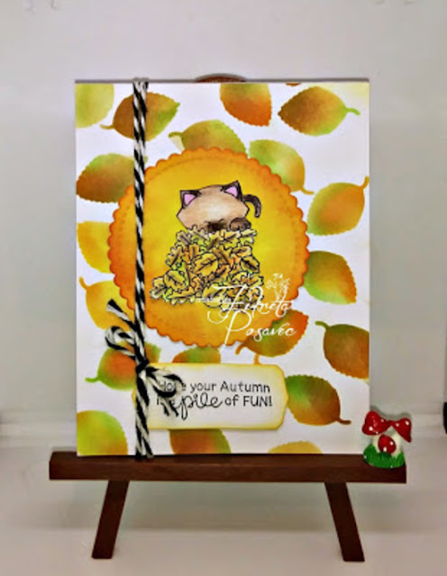 Hope your autumn is a pile of fun by Fikreta features Autumn Newton by Newton's Nook Designs; #newtonsnook