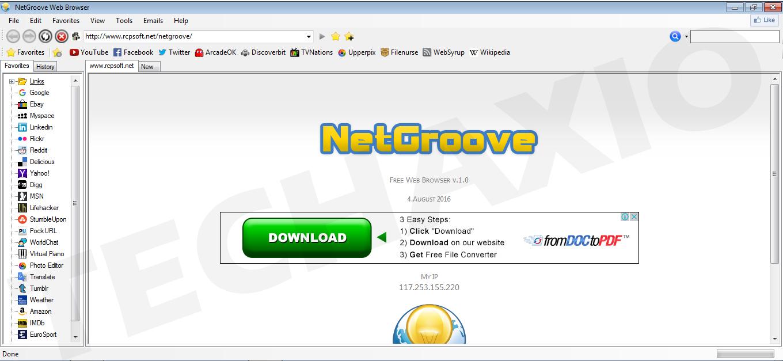 NetGroove Browser Screenshot