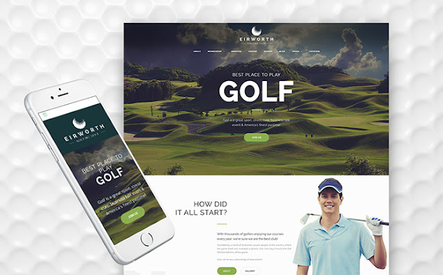 Golfing Club WordPress Theme