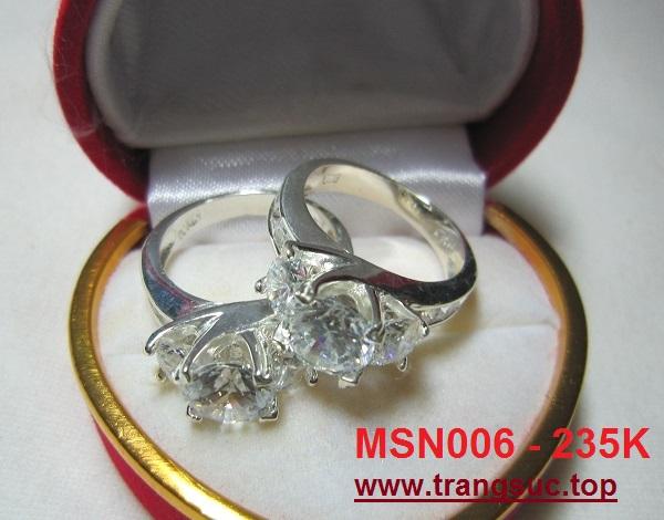 TrangSuc.top - Nhẫn đính đá trắng cao cấp MSN006 - 235.000 VNĐ Liên hệ: 0906 846366(Mr.Giang)