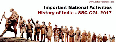 Important National Activities - History of India for SSC Exams