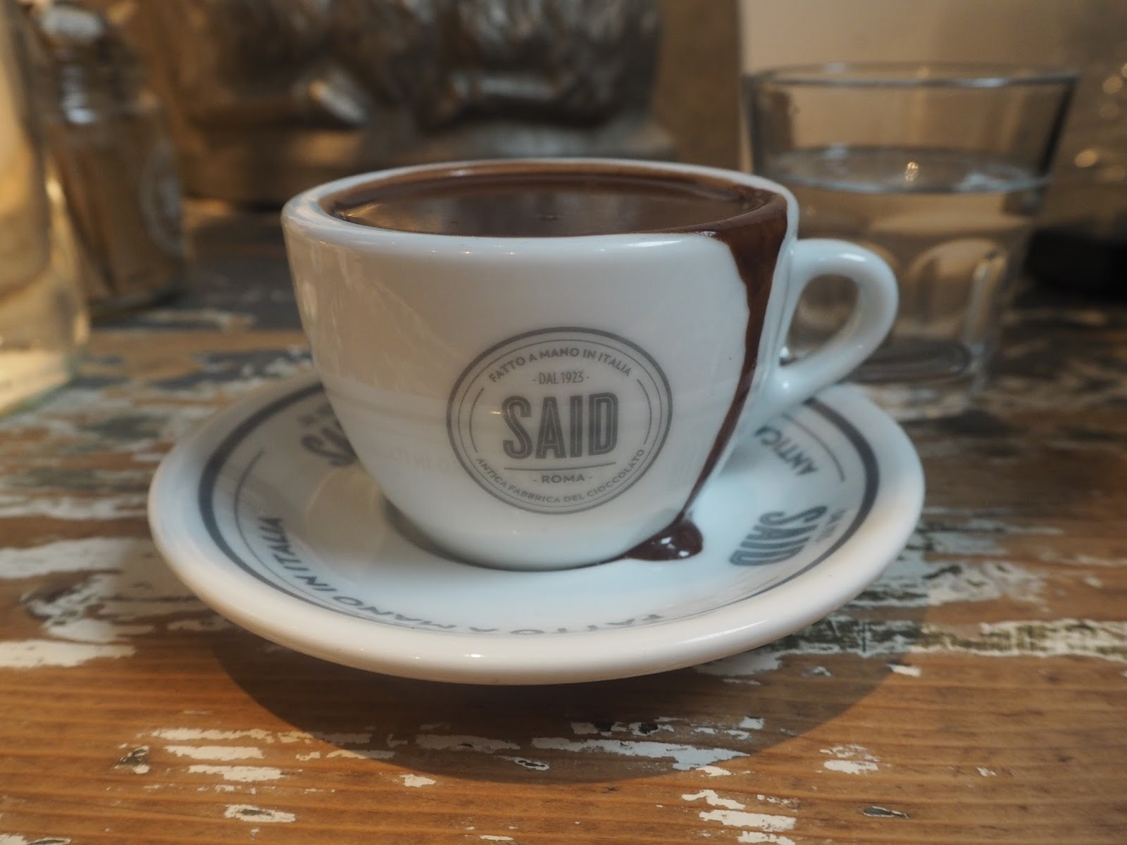 Hot chocolate from Said, Soho