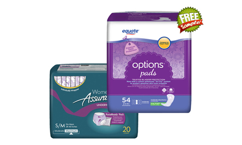 equate pads free samples, equate pads samples, equate free samples, equate samples