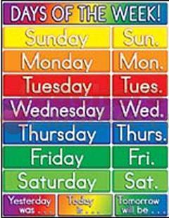 How To Teachkindergarten Days Of The Week