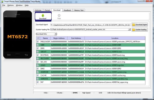 Tutorial Lengkap Flashing Lenovo A5000 via SP-Flashtool