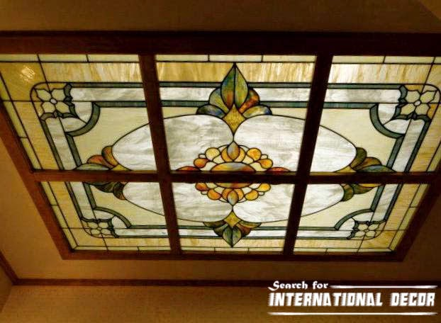 stained glass ceiling,stained glass panels,stained glass in the interior