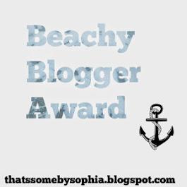 The Beachy Blogger Award!