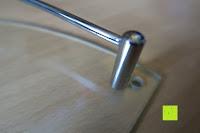 Stange zu krumm: KROLLMANN hochwertige Eck Badablage mit Glasboden und Reling