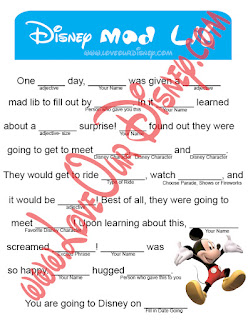Disney Trip Mad Lib by Love Our Crazy Life