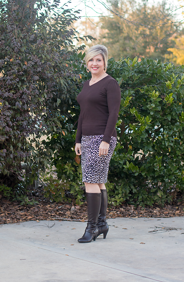 boots, fall skirt outfit, sweater outfit, office outfit