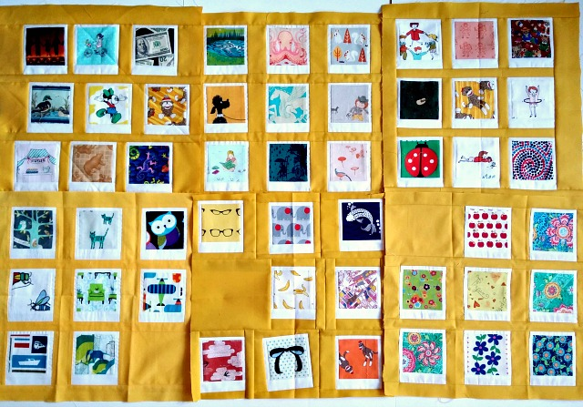 Puppilalla, Polaroid blocks, photo blocks, patchwork