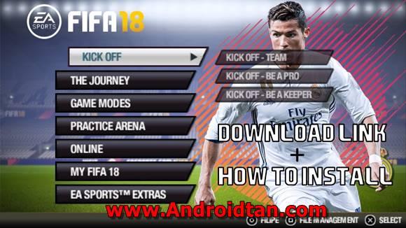 teman kembali lagi dengan admin Androidtan yang selalu menawarkan game ppsspp terbaru kepa Download FIFA 18 Mod ISO PPSSPP + Save Data Terbaru Gratis 2018