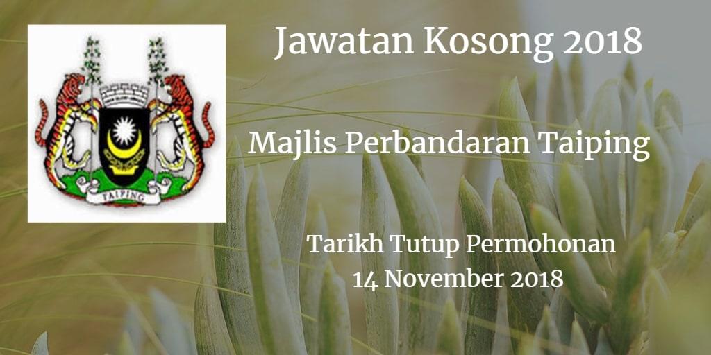 Jawatan Kosong MPT 14 November 2018