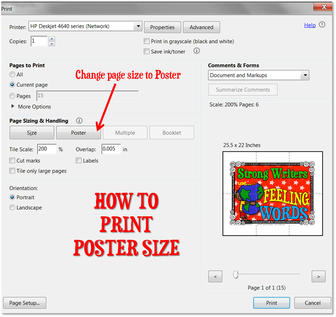 A Teacher's Idea: How to Print Poster Size