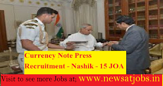 Currency-Note-Press-Recruitment-15 JOA Posts