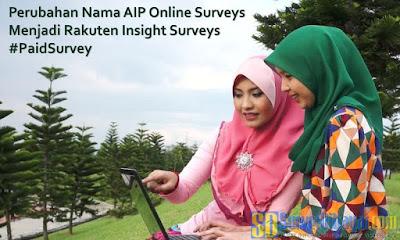 Perubahan Nama AIP Online Surveys Menjadi Rakuten Insight Surveys | SurveiDibayar.com