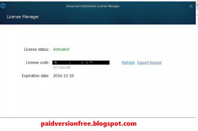 advanced systemcare pro serial key list 2016