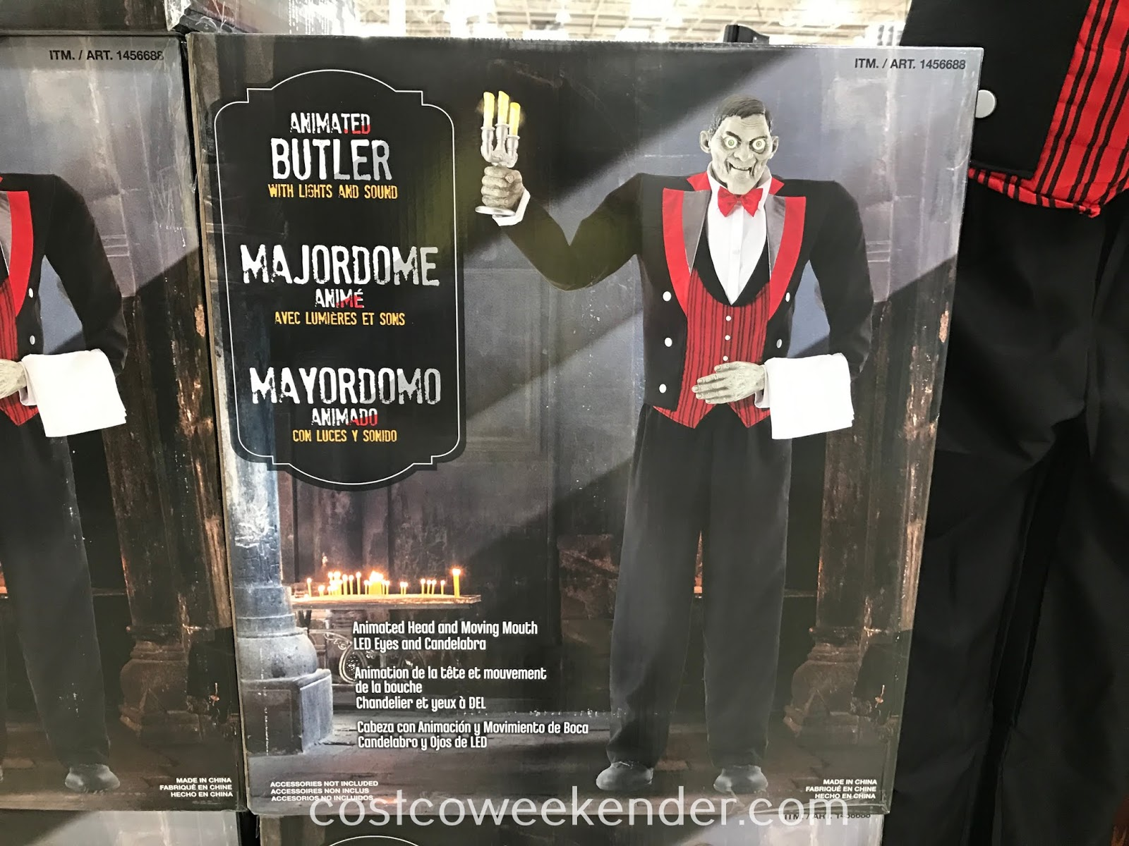 Costco 1456688 - Turn your home into a haunted mansion with the Animated Butler with Lights and Sound