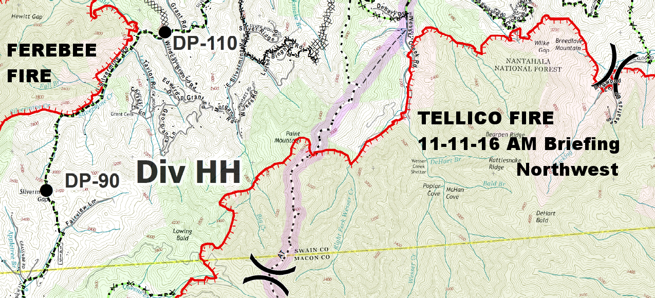 Tellico Fire  Northwestern Sector