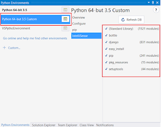 IntelliSence Unknow in Python for Visual Studio
