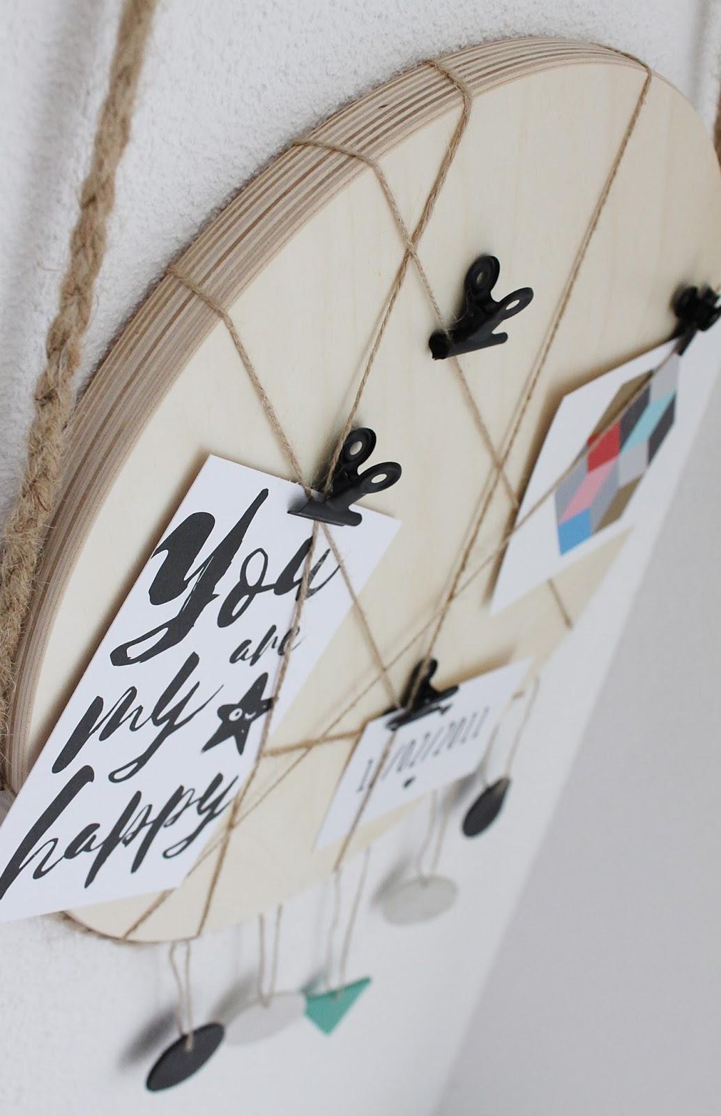DIY Ikea Frosta Hack vom Hocker zum Memoboard für das Kinderzimmer