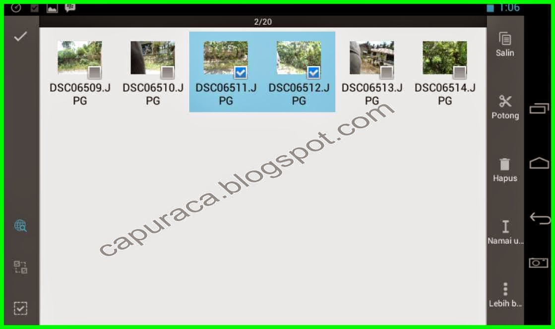 Cara copy file di Tablet ke Flashdisk
