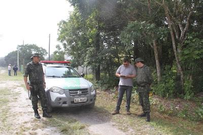 Polícia Ambiental e Fundação Florestal inibem ocupação irregular no Boqueirão Sul