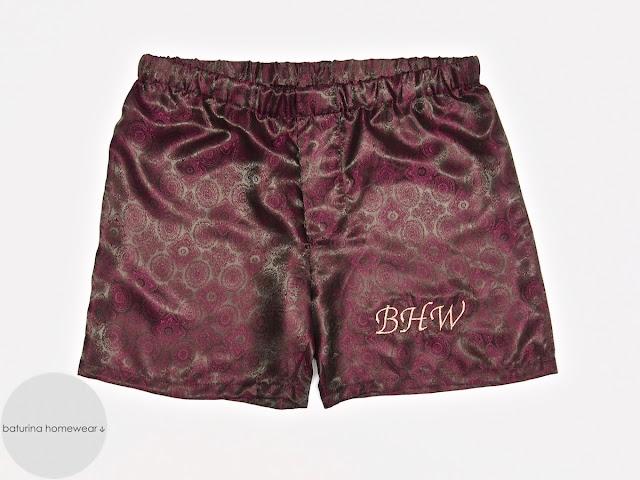 Mens monogrammed silk boxer shorts
