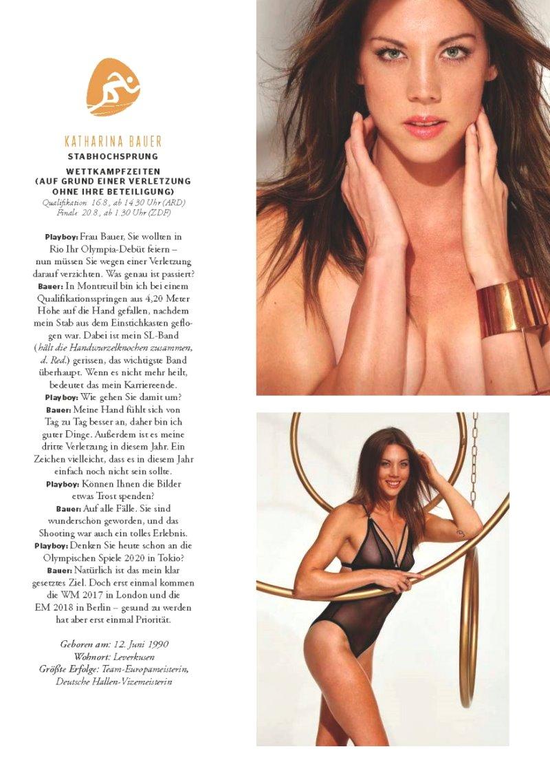 Playboy katharina bauer German star