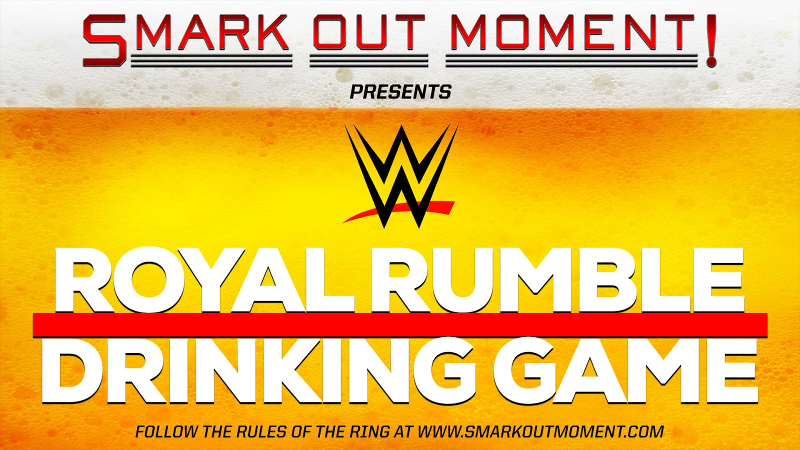 WWE Royal Rumble drinking party game rules