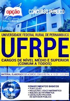 Apostila Concurso UFRPE 2018 Todos os Cargos