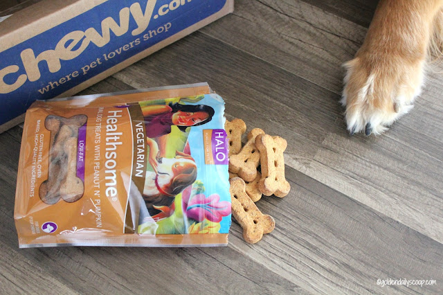 Halo vegetarian dog treats made in the USA