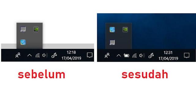 ikon baterai hilang di laptop windows 10