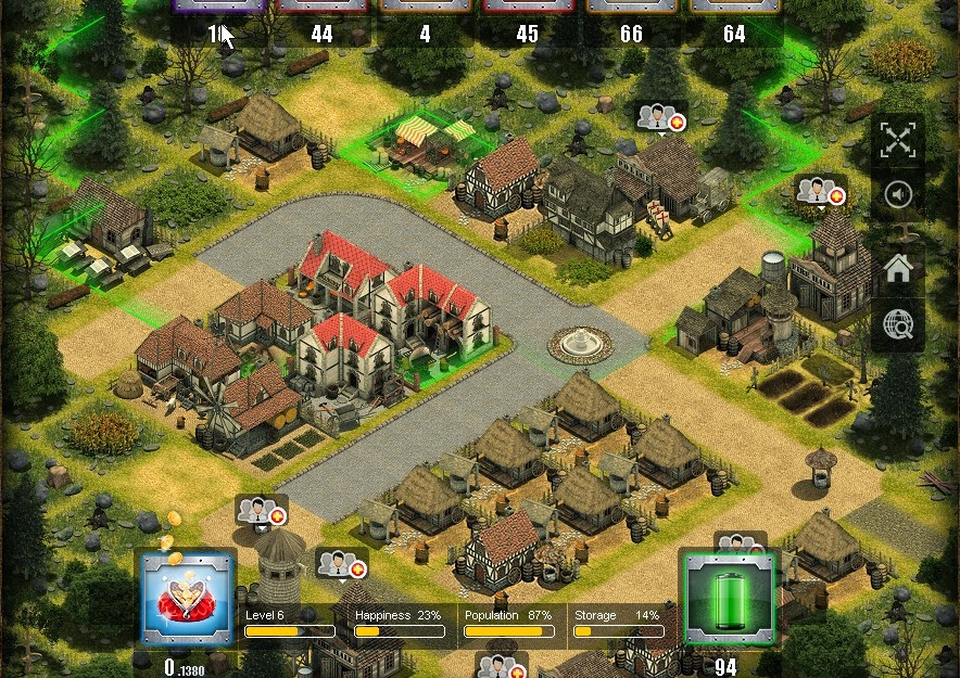 Play Golden Town: Fun Free Game Online with real gold