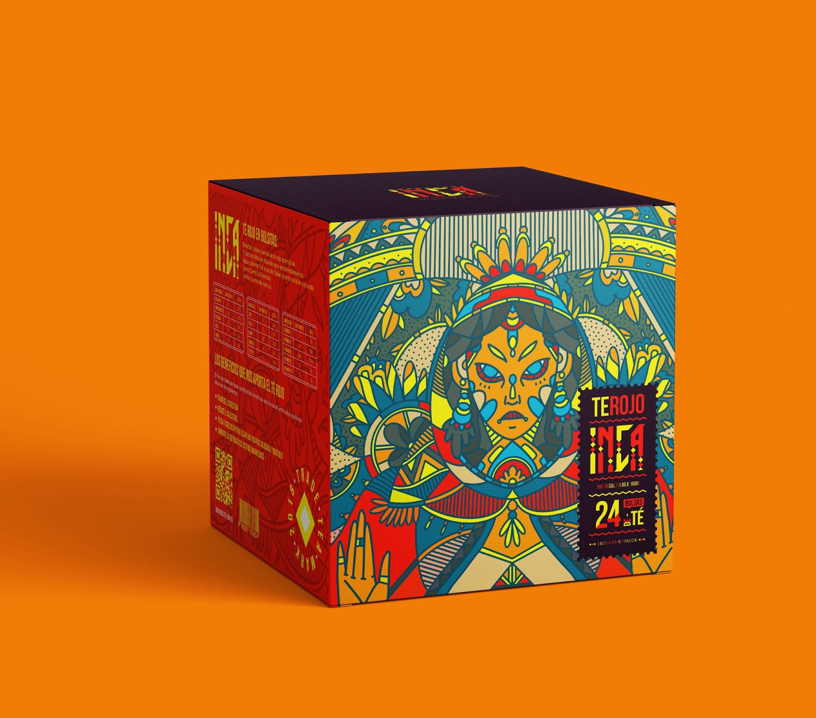 Inca Tea Bags Inti God Of Sun On Packaging Of The World