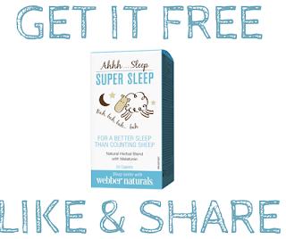 Get a Voucher for a FREE Bottle of Webber Naturals Super Sleep  Value $19.99