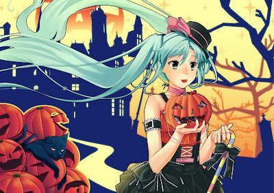 hatsune miku halloween wallpaper