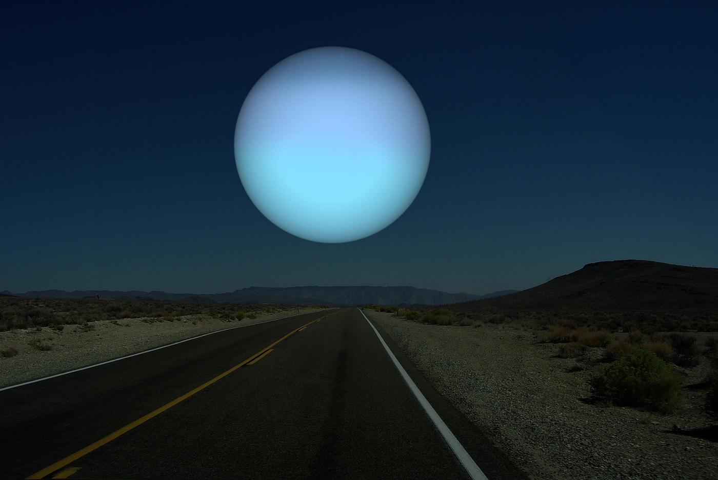 Uranus as Earth's Moon