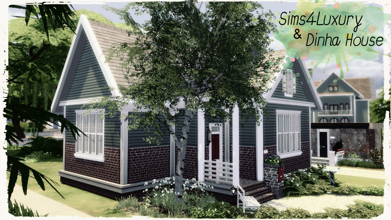 Sims4Luxury%2B%2BDinha%2BHouse - View Starter Sims 4 Small House Ideas Pics