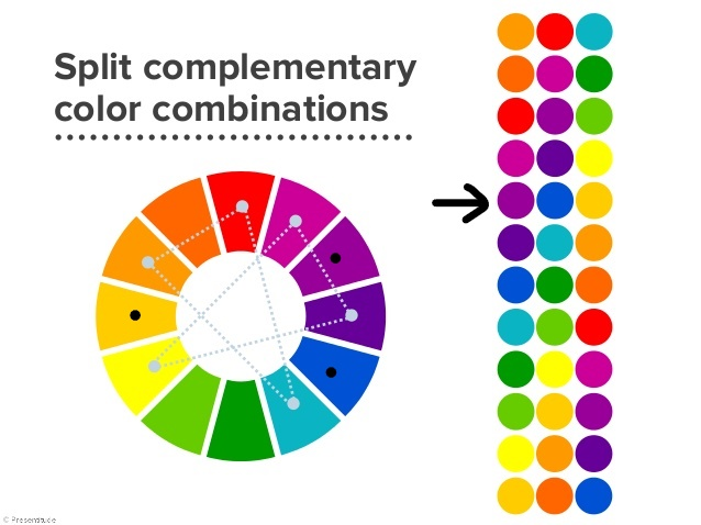 Split complimentary block - Split complementary colors examples ...
