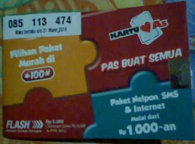 Paket Internet Kartu As 3GB
